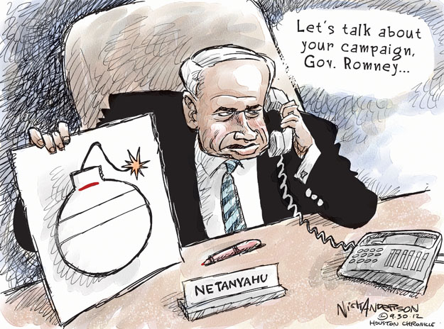 Cartoonist Nick Anderson  Nick Anderson's Editorial Cartoons 2012-09-30 Israel
