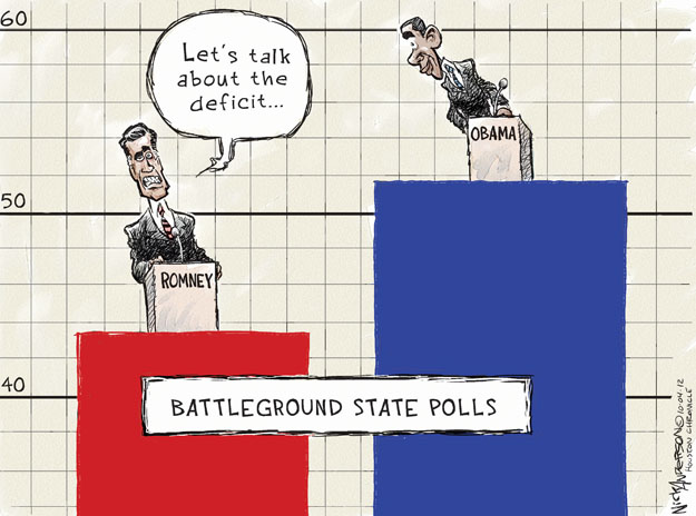 Cartoonist Nick Anderson  Nick Anderson's Editorial Cartoons 2012-10-04 2012 debate
