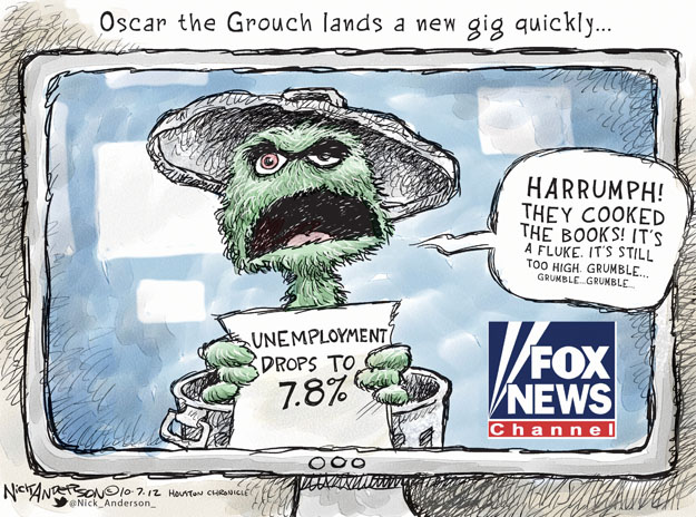 Cartoonist Nick Anderson  Nick Anderson's Editorial Cartoons 2012-10-07 unemployment