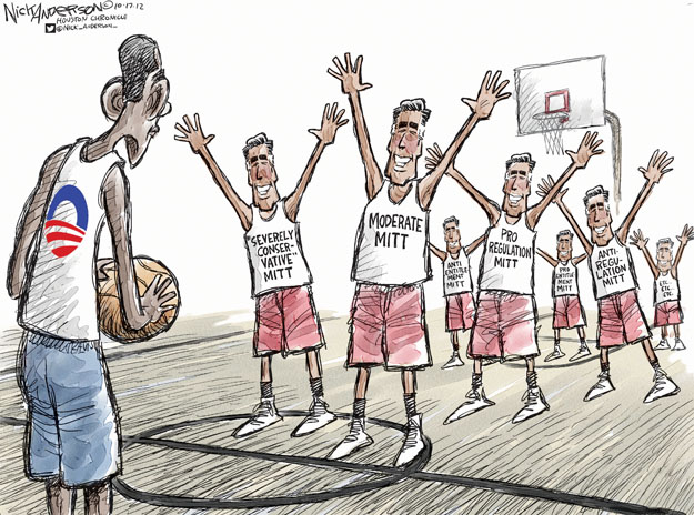 Cartoonist Nick Anderson  Nick Anderson's Editorial Cartoons 2012-10-17 2012 election
