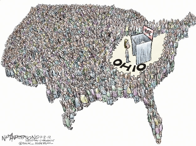 Cartoonist Nick Anderson  Nick Anderson's Editorial Cartoons 2012-11-02 2012 election