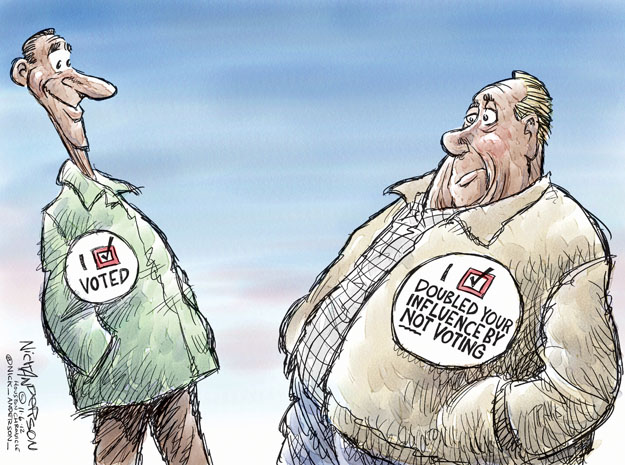Cartoonist Nick Anderson  Nick Anderson's Editorial Cartoons 2012-11-06 2012 election