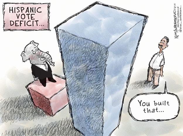 Cartoonist Nick Anderson  Nick Anderson's Editorial Cartoons 2012-11-08 political party
