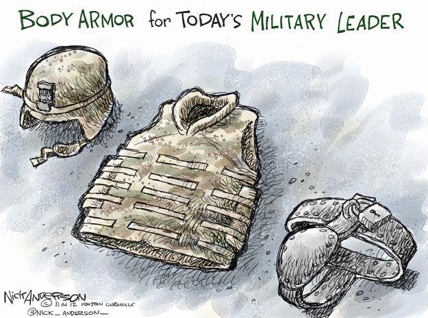 Nick Anderson  Nick Anderson's Editorial Cartoons 2012-11-14 military leadership