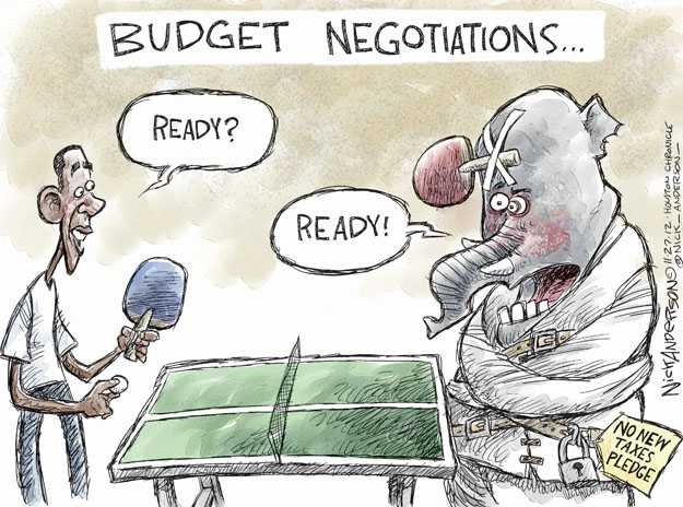 Nick Anderson  Nick Anderson's Editorial Cartoons 2012-11-27 tax pledge