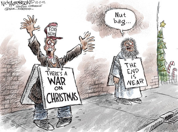 Cartoonist Nick Anderson  Nick Anderson's Editorial Cartoons 2012-12-05 Christmas