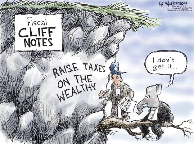Cartoonist Nick Anderson  Nick Anderson's Editorial Cartoons 2012-12-11 rich
