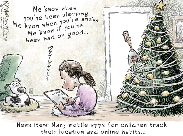 Cartoonist Nick Anderson  Nick Anderson's Editorial Cartoons 2012-12-12 Christmas