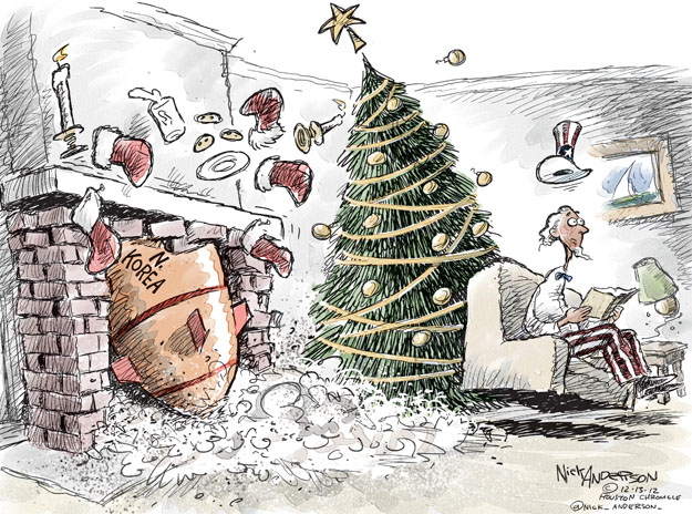 Cartoonist Nick Anderson  Nick Anderson's Editorial Cartoons 2012-12-13 Christmas