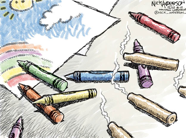 Cartoonist Nick Anderson  Nick Anderson's Editorial Cartoons 2012-12-16 gun rights