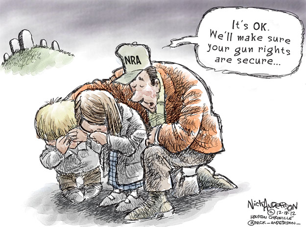 Nick Anderson  Nick Anderson's Editorial Cartoons 2012-12-18 Newtown