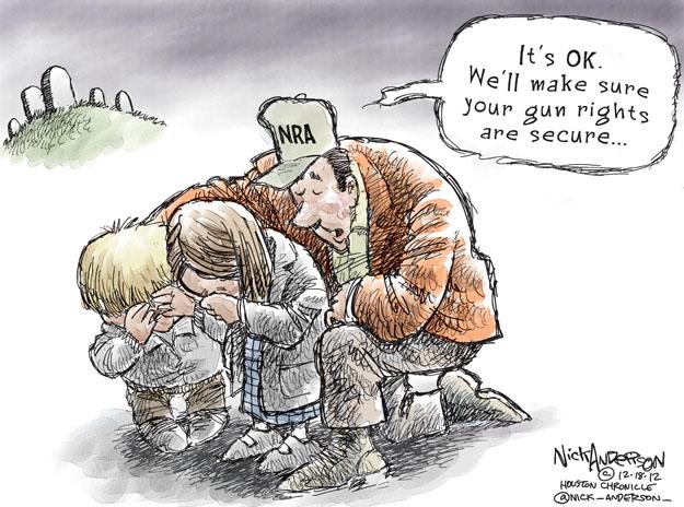 Cartoonist Nick Anderson  Nick Anderson's Editorial Cartoons 2012-12-18 gun rights