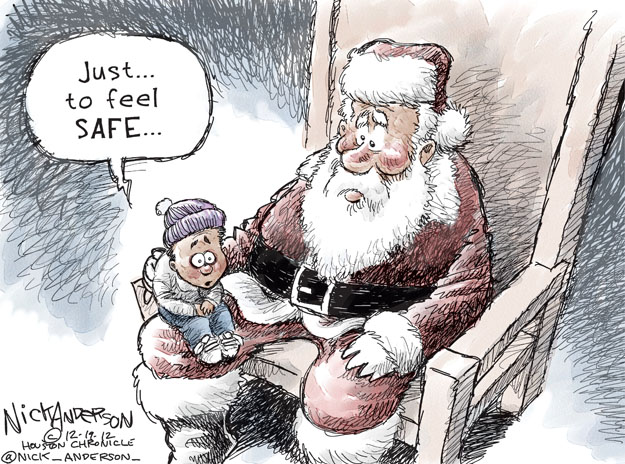 Cartoonist Nick Anderson  Nick Anderson's Editorial Cartoons 2012-12-19 Christmas