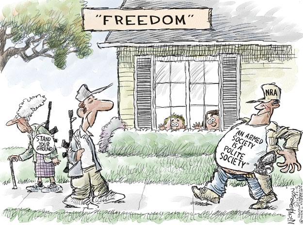 Cartoonist Nick Anderson  Nick Anderson's Editorial Cartoons 2012-12-23 armed
