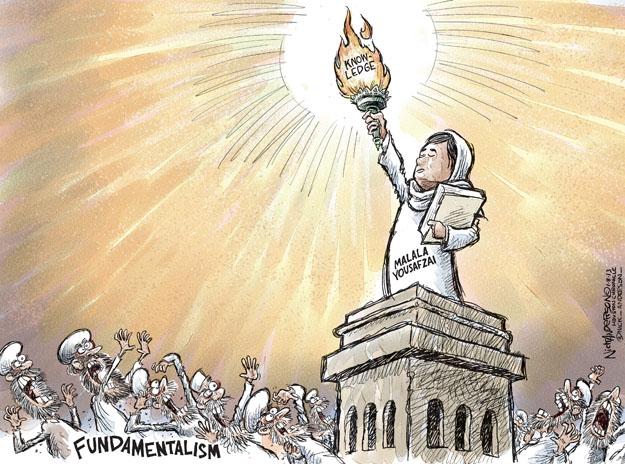 Cartoonist Nick Anderson  Nick Anderson's Editorial Cartoons 2013-01-08 torch