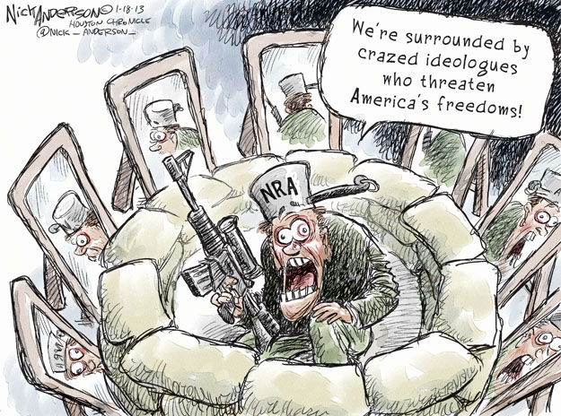 Cartoonist Nick Anderson  Nick Anderson's Editorial Cartoons 2013-01-18 assault weapon