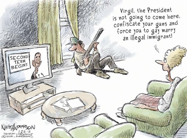 Cartoonist Nick Anderson  Nick Anderson's Editorial Cartoons 2013-01-22 weapon
