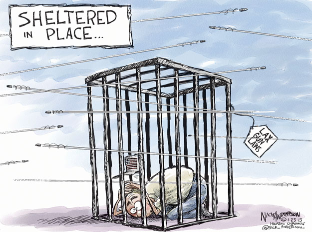 Cartoonist Nick Anderson  Nick Anderson's Editorial Cartoons 2013-01-23 assault weapon