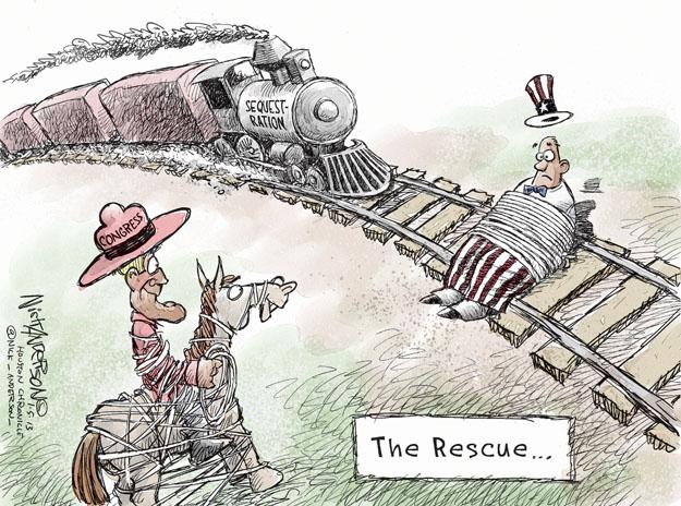 Nick Anderson  Nick Anderson's Editorial Cartoons 2013-02-05 deficit