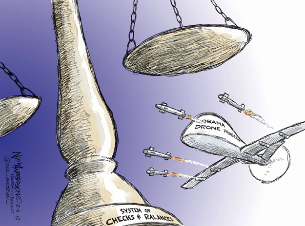 Cartoonist Nick Anderson  Nick Anderson's Editorial Cartoons 2013-02-06 armed