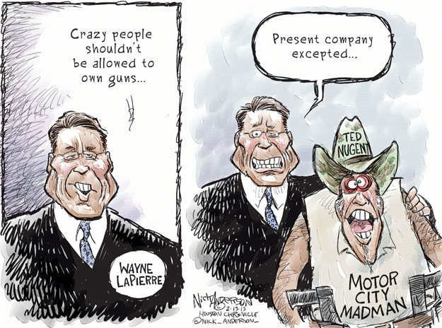 Cartoonist Nick Anderson  Nick Anderson's Editorial Cartoons 2013-02-13 NRA