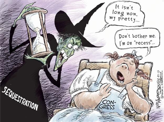 Nick Anderson  Nick Anderson's Editorial Cartoons 2013-02-21 federal budget