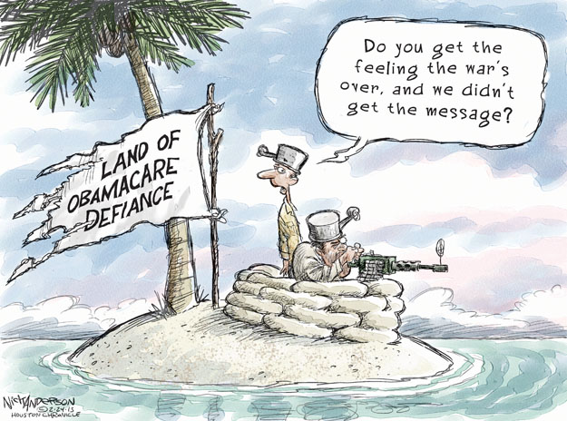 Cartoonist Nick Anderson  Nick Anderson's Editorial Cartoons 2013-02-24 health care