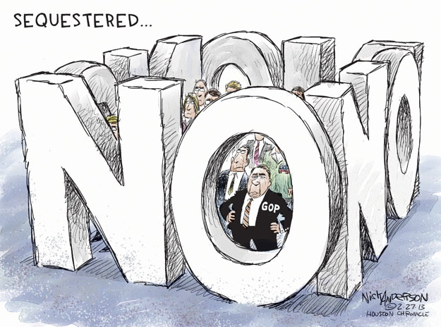 Cartoonist Nick Anderson  Nick Anderson's Editorial Cartoons 2013-02-27 speaker