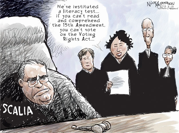 Nick Anderson  Nick Anderson's Editorial Cartoons 2013-03-03 Elena Kagan