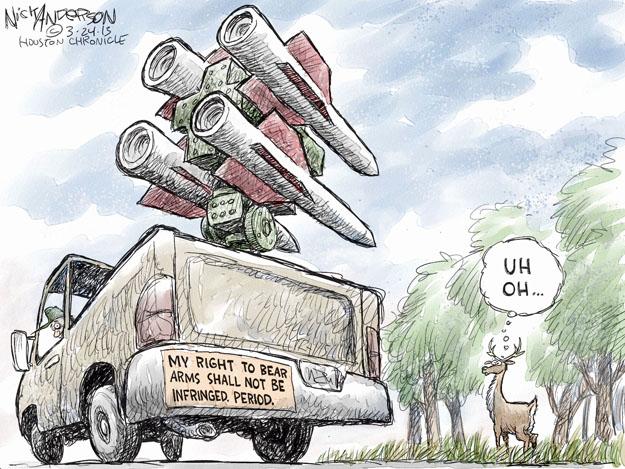 Cartoonist Nick Anderson  Nick Anderson's Editorial Cartoons 2013-03-24 weaponry