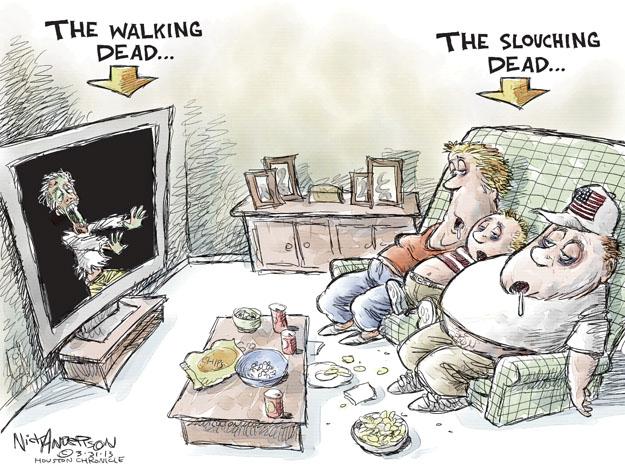 The Walking Dead.  The slouching dead.