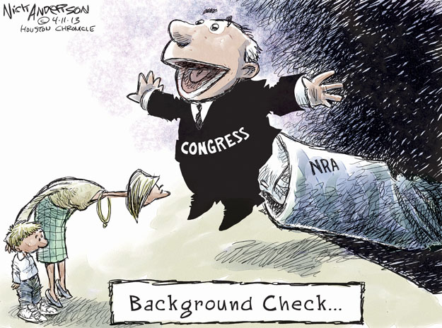 Nick Anderson  Nick Anderson's Editorial Cartoons 2013-04-11 assault weapon