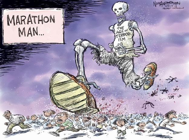 Cartoonist Nick Anderson  Nick Anderson's Editorial Cartoons 2013-04-17 bombing