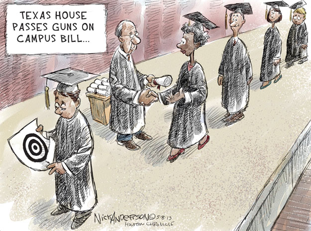 Nick Anderson  Nick Anderson's Editorial Cartoons 2013-05-08 assault weapon