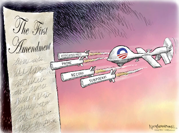 Nick Anderson  Nick Anderson's Editorial Cartoons 2013-05-15 freedom of the press