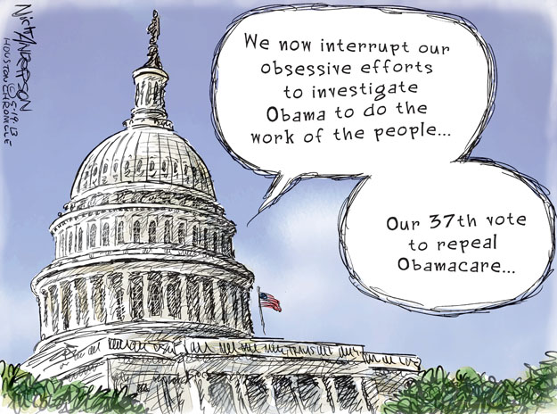 Nick Anderson  Nick Anderson's Editorial Cartoons 2013-05-19 health care repeal