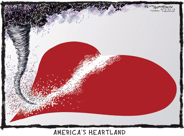 Cartoonist Nick Anderson  Nick Anderson's Editorial Cartoons 2013-05-22 disaster