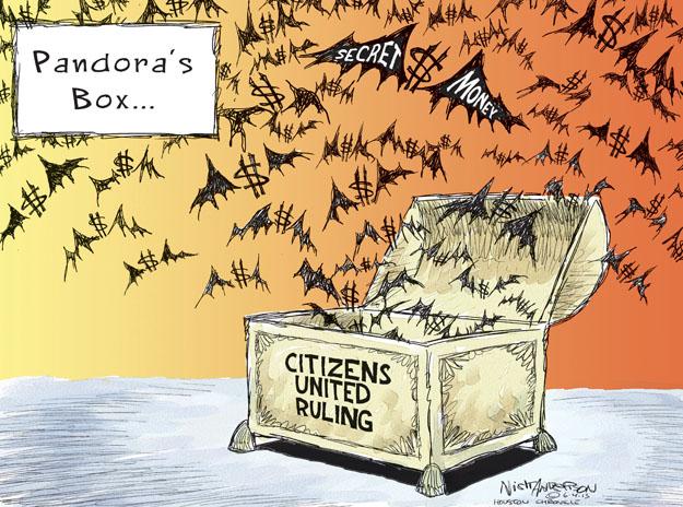 Pandoras Box … Secret Money. Citizens United Ruling.