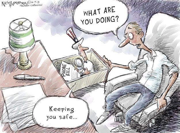 Cartoonist Nick Anderson  Nick Anderson's Editorial Cartoons 2013-06-07 national security