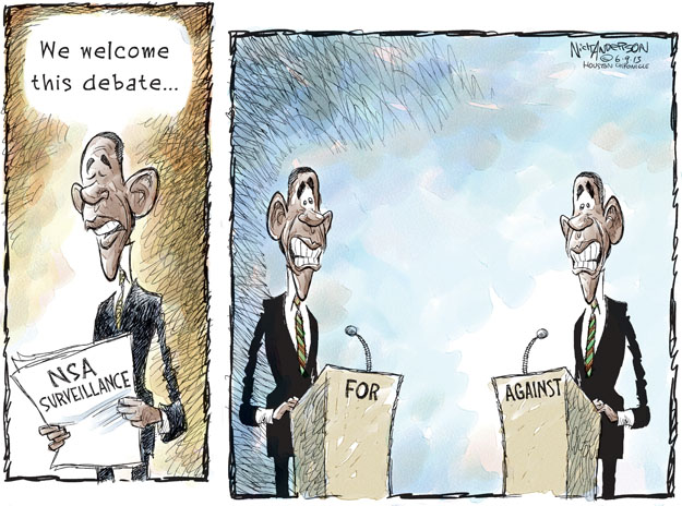 Nick Anderson  Nick Anderson's Editorial Cartoons 2013-06-08 surveillance