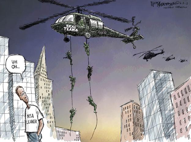 Nick Anderson  Nick Anderson's Editorial Cartoons 2013-06-11 surveillance