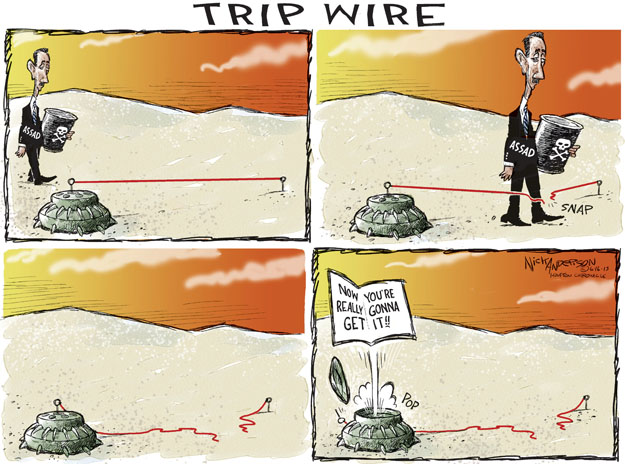 Cartoonist Nick Anderson  Nick Anderson's Editorial Cartoons 2013-06-16 chemical