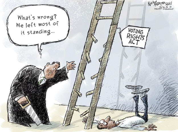 Nick Anderson  Nick Anderson's Editorial Cartoons 2013-06-26 voting rights