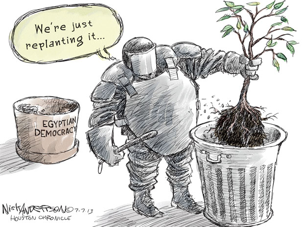 Were just replanting it … Egyptian Democracy.