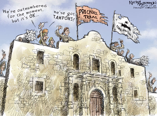 Cartoonist Nick Anderson  Nick Anderson's Editorial Cartoons 2013-07-17 reproductive freedom