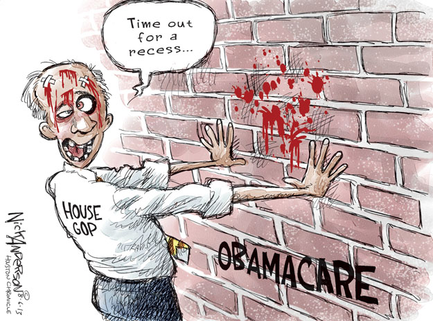 Cartoonist Nick Anderson  Nick Anderson's Editorial Cartoons 2013-08-06 health care policy