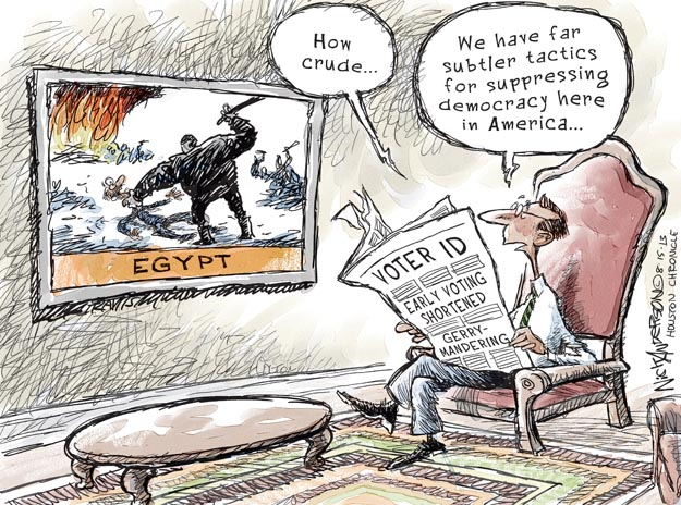 Nick Anderson  Nick Anderson's Editorial Cartoons 2013-08-15 democracy