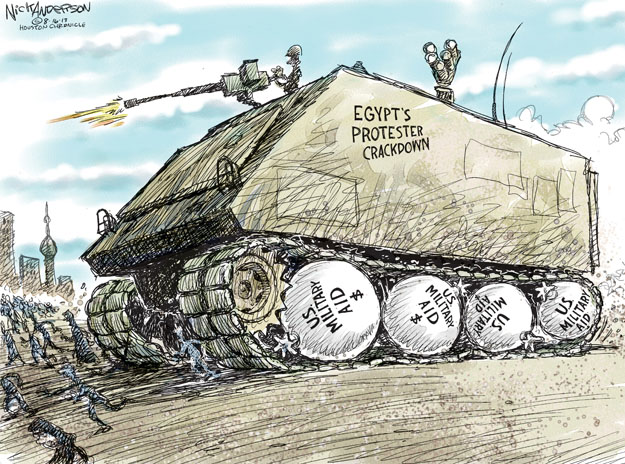 Egypts Protester Crackdown. U.S. Military Aid $.
