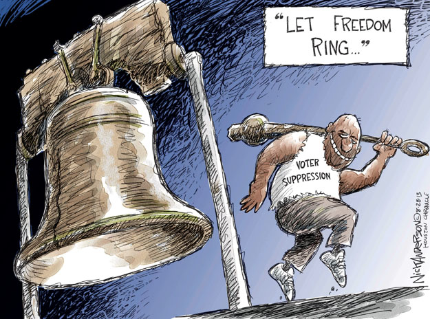 Nick Anderson  Nick Anderson's Editorial Cartoons 2013-08-28 voter ID law