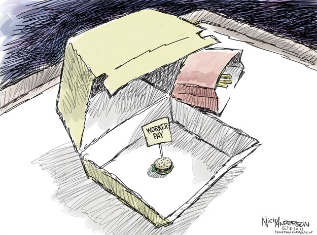 Cartoonist Nick Anderson  Nick Anderson's Editorial Cartoons 2013-08-30 Obamacare jobs